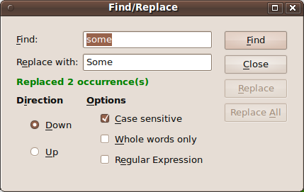 Find Replace Dialog